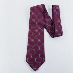 Jos. A. Bank Maroon Tie signature collection silk